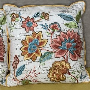 2 pier one imports floral beaded throw pillows